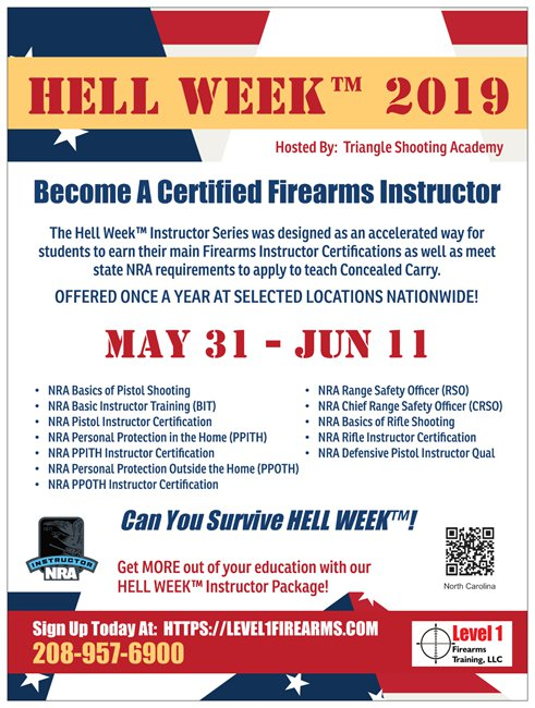 North Carolina Firearms Training | Level 1 Firearms Training